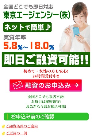 東京エージェンシー(株)の闇金サイト