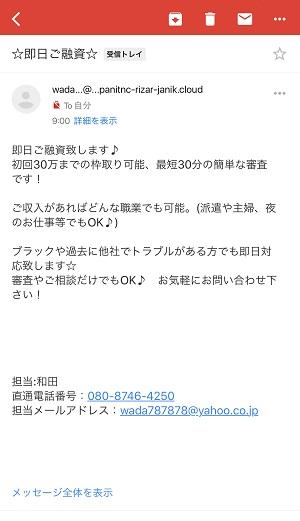 和田からのメール画像